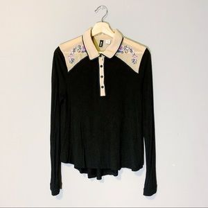Urban Outfitters BDG | Blouse Polo Embroidered Med